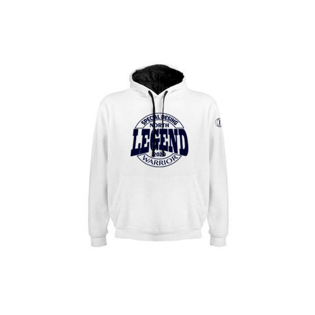 Sudadera Warrior Blanco-Marino
