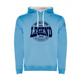 Sudadera Warrior Celeste-Blanco