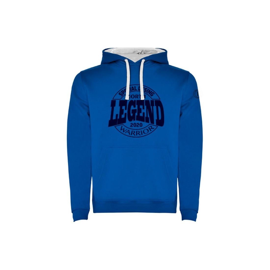 Sudadera Warrior Royal-Blanco