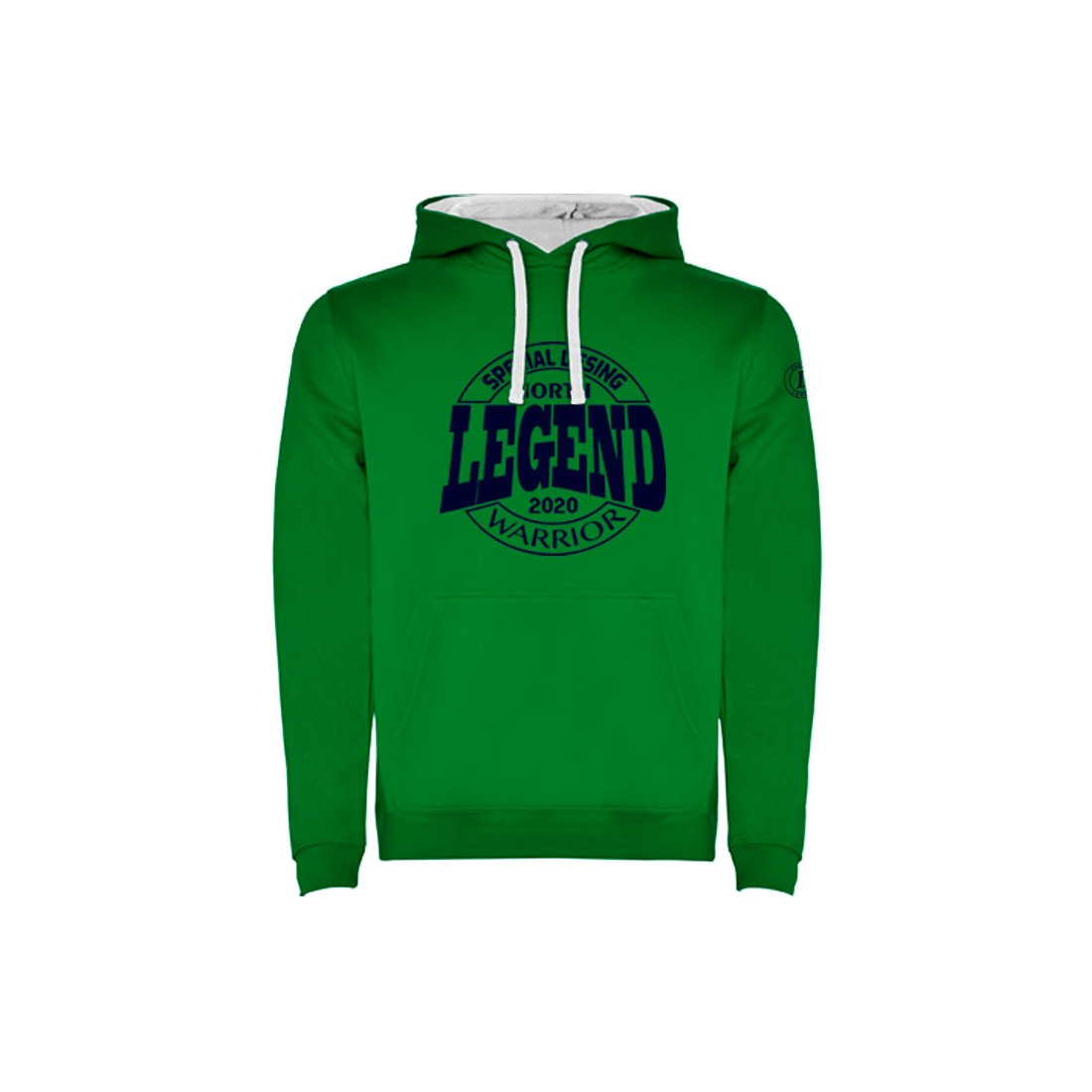 Sudadera Warrior Verde Kelly-Blanco