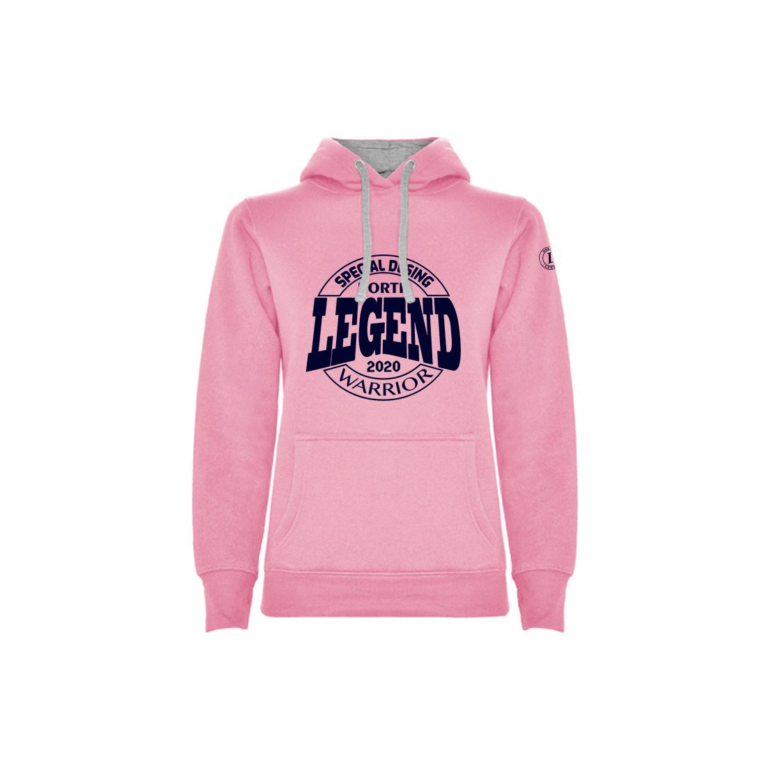 Sudadera Warrior Woman Legend Rosa-Gris